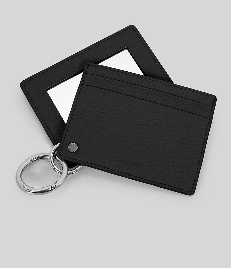 Womens Fetch Leather Mirror Cardholder (black) - Image 2