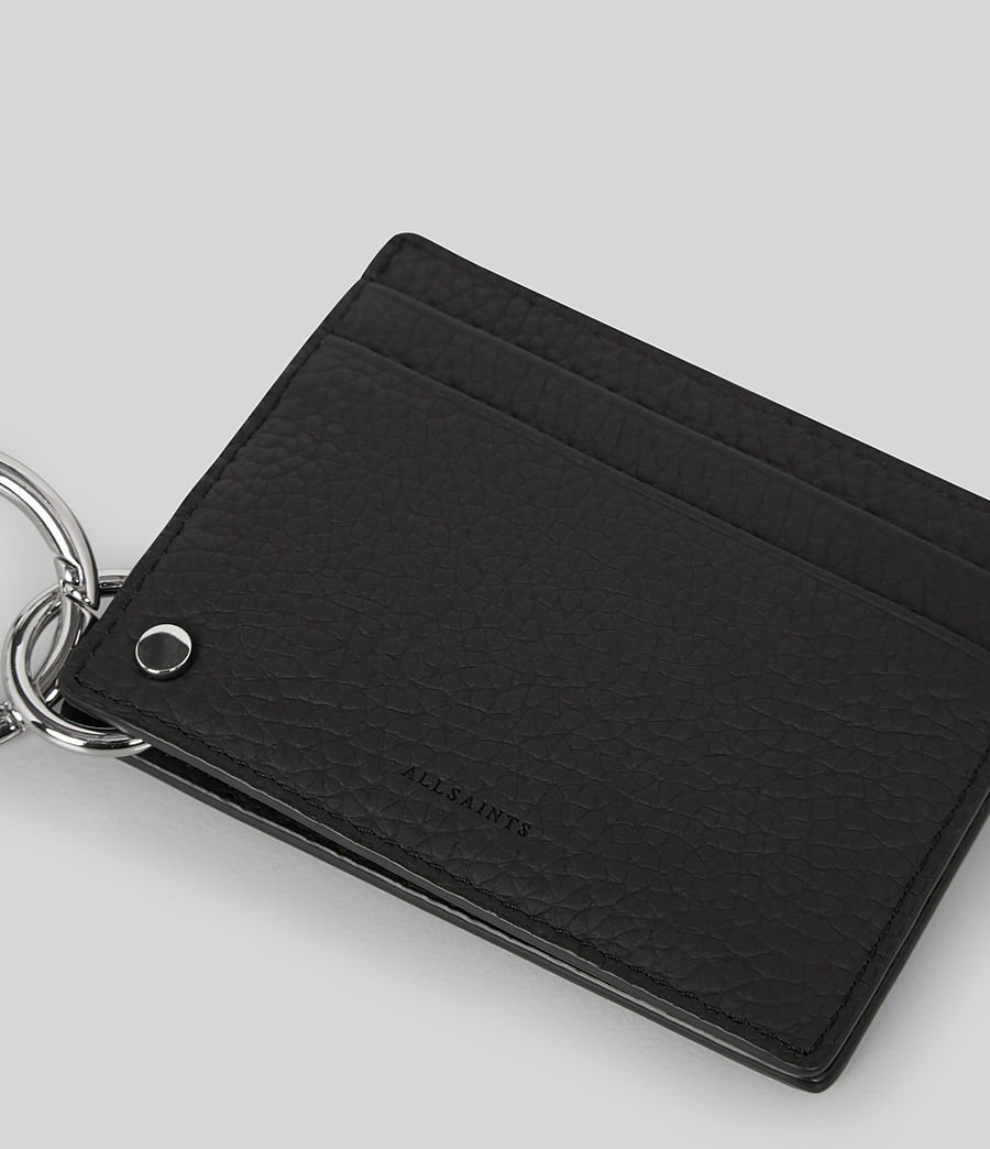 Womens Fetch Leather Mirror Cardholder (black) - Image 4