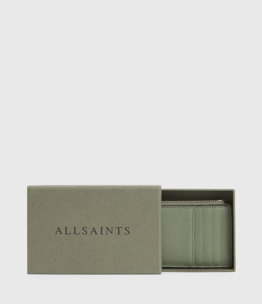 Women's Marlborough Leather Wallet (sage_green) - Image 6