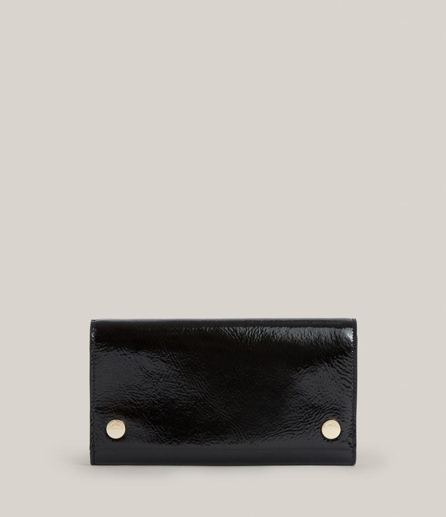 Women's Holland Leather Wallet (liquid_black) - Image 1