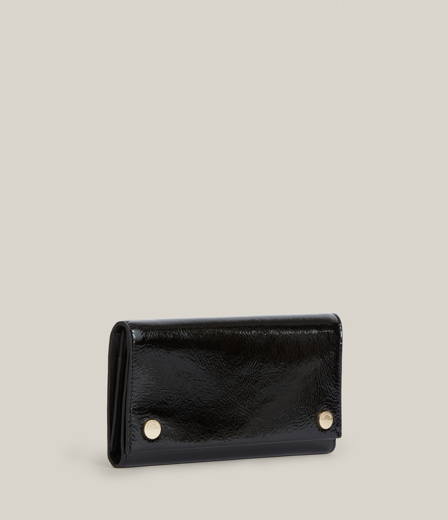 Women's Holland Leather Wallet (liquid_black) - Image 3