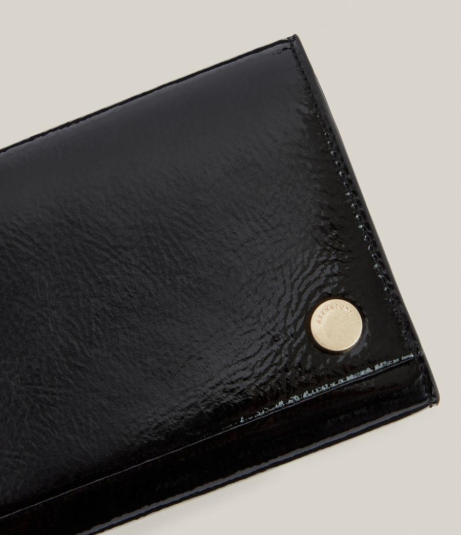 Women's Holland Leather Wallet (liquid_black) - Image 4