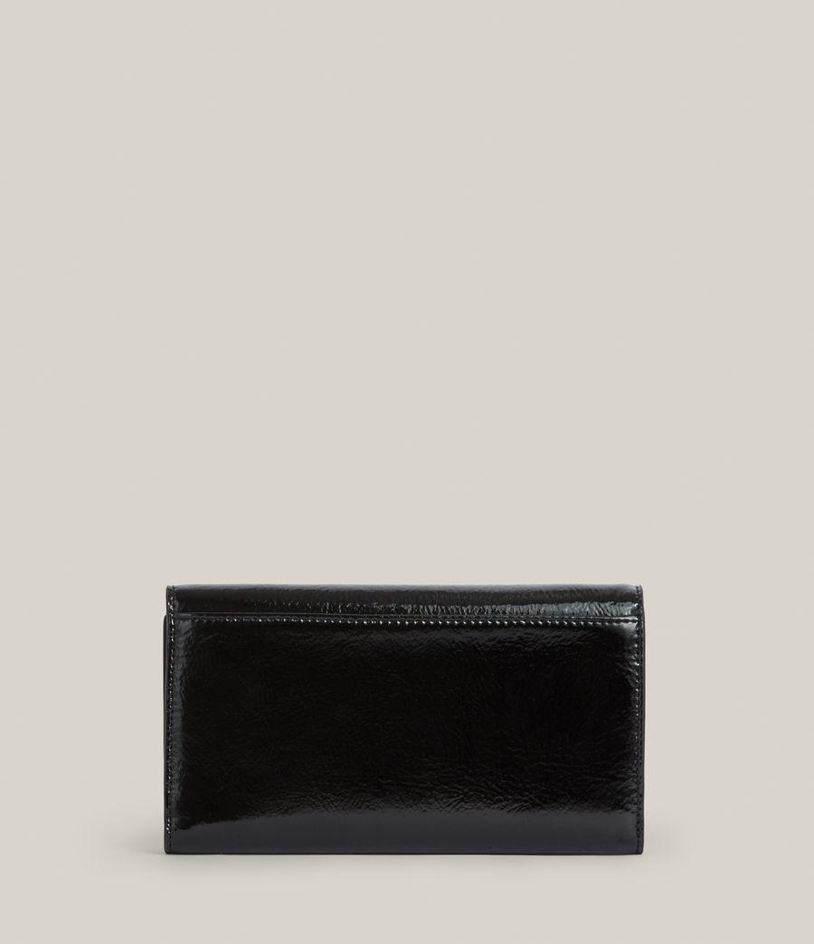 Women's Holland Leather Wallet (liquid_black) - Image 5