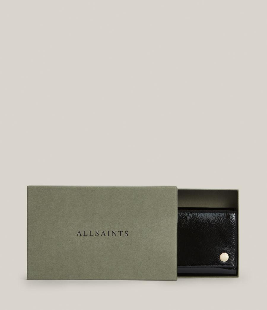 Women's Holland Leather Wallet (liquid_black) - Image 6