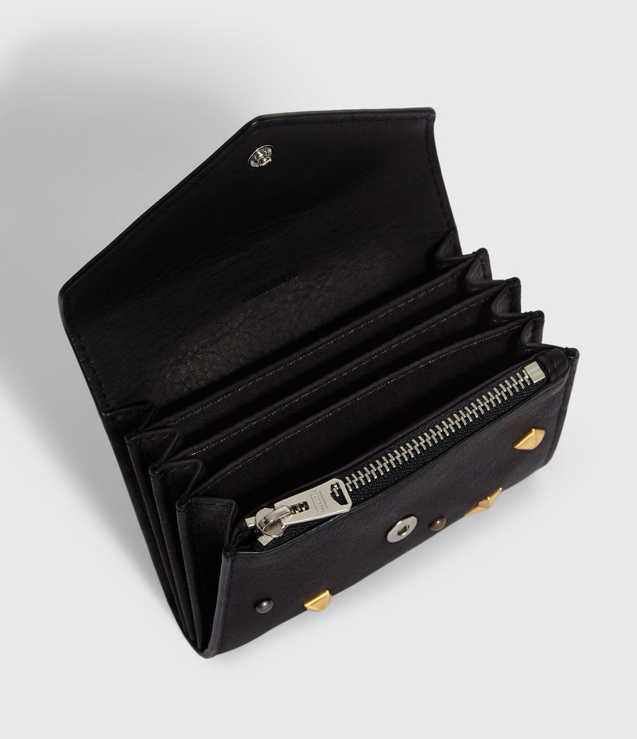 Women's Mazzy Flap Leather Cardholder (black) - Image 2