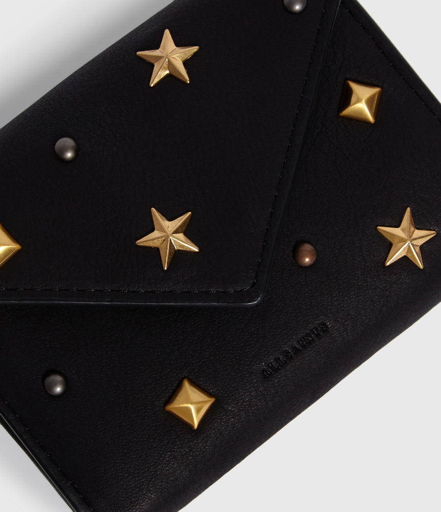 Women's Mazzy Flap Leather Cardholder (black) - Image 3