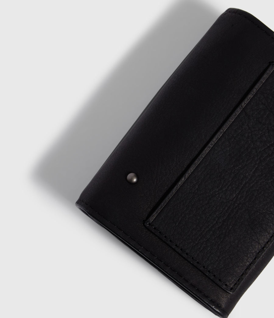 Women's Mazzy Flap Leather Cardholder (black) - Image 5