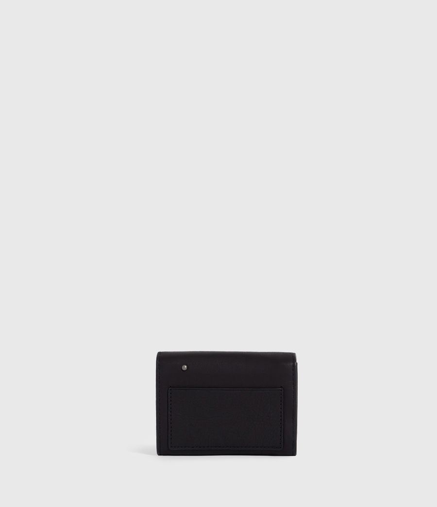 Women's Mazzy Flap Leather Cardholder (black) - Image 6