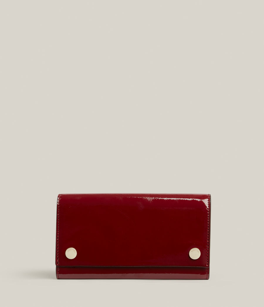 Women's Holland Leather Wallet (liquid_rouge) - Image 1