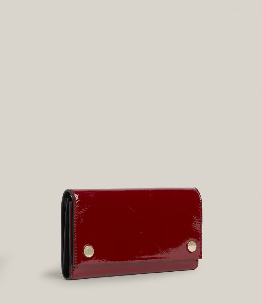 Women's Holland Leather Wallet (liquid_rouge) - Image 3