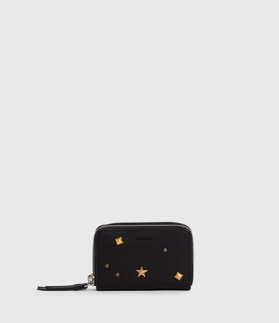 Womens Mazzy Leather Cardholder (black) - Image 1