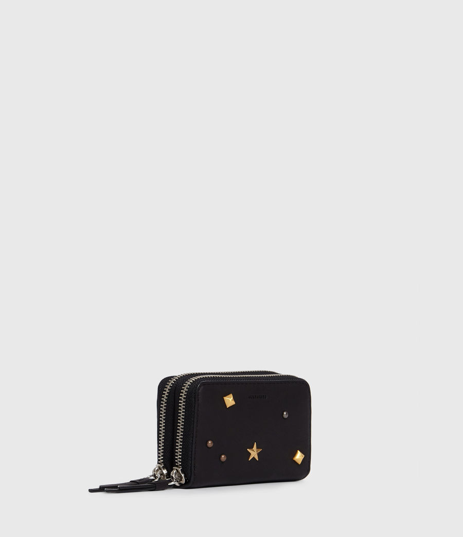 Women's Mazzy Leather Cardholder (black) - Image 3