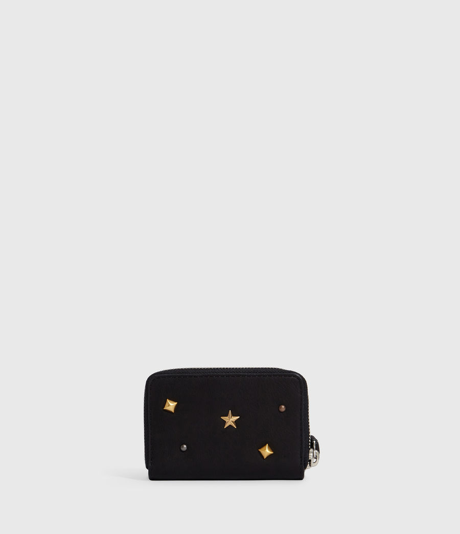 Women's Mazzy Leather Cardholder (black) - Image 6