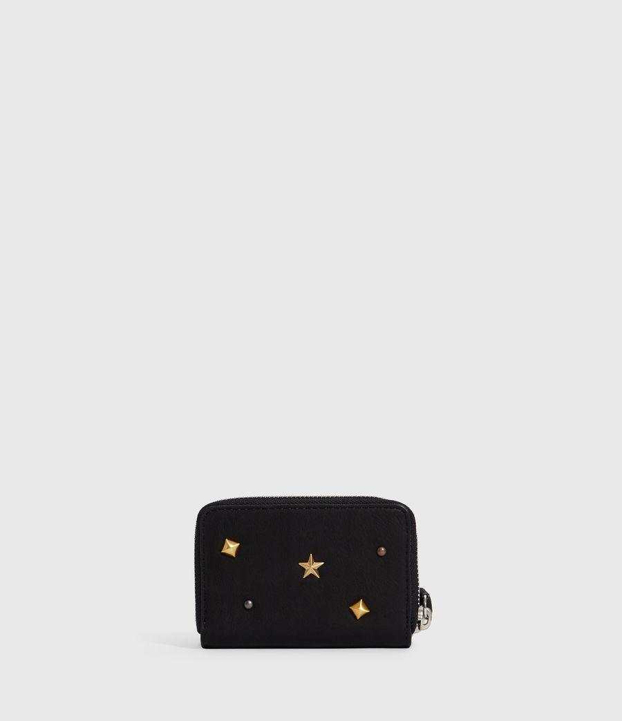 Donne Portacarte Mazzy - Realizzato a mano - In pelle con zip e borchie (black) - Image 6