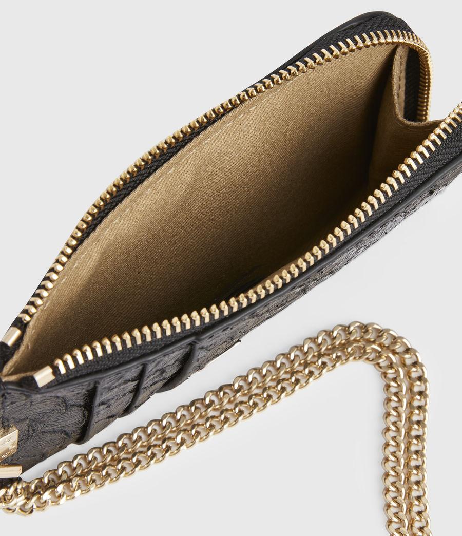 Women's Lotte Chain Leather Cardholder (black_python) - Image 2