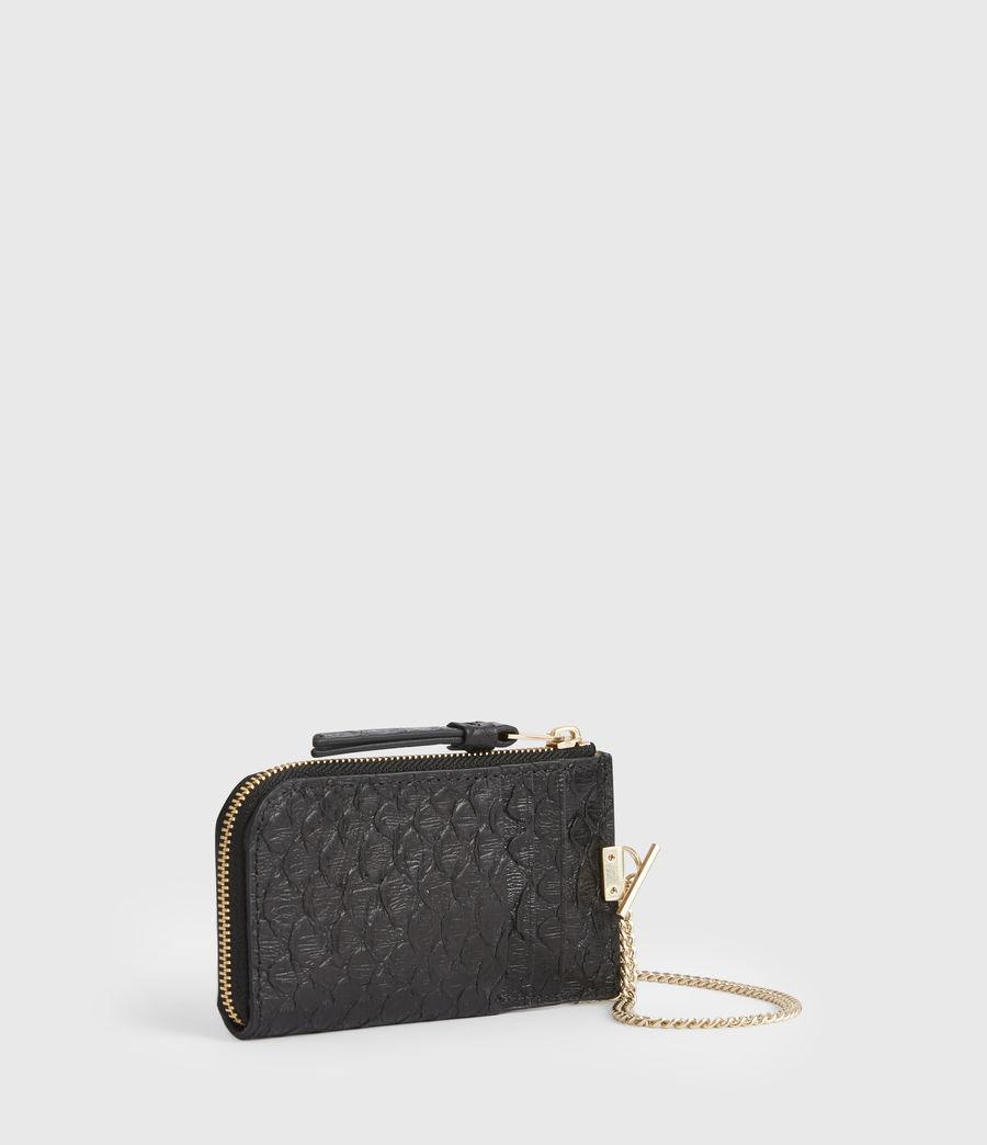 Women's Lotte Chain Leather Cardholder (black_python) - Image 3