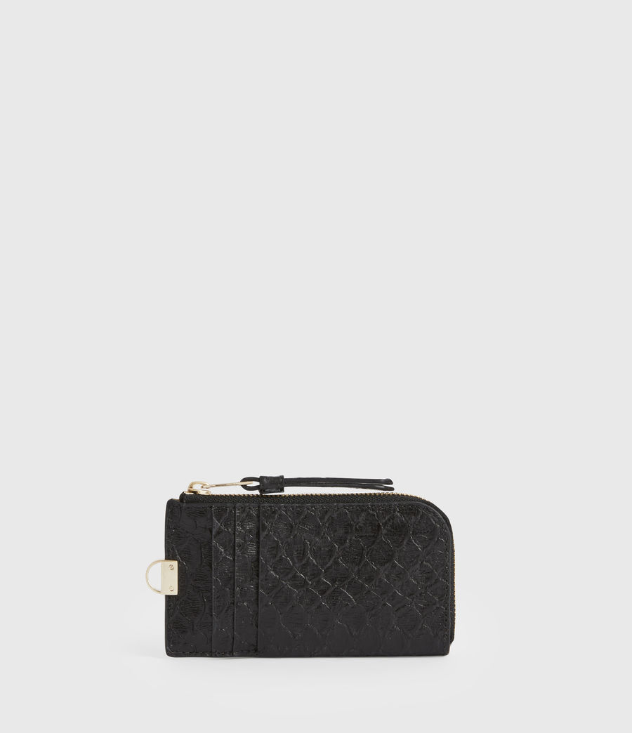 Women's Lotte Chain Leather Cardholder (black_python) - Image 6