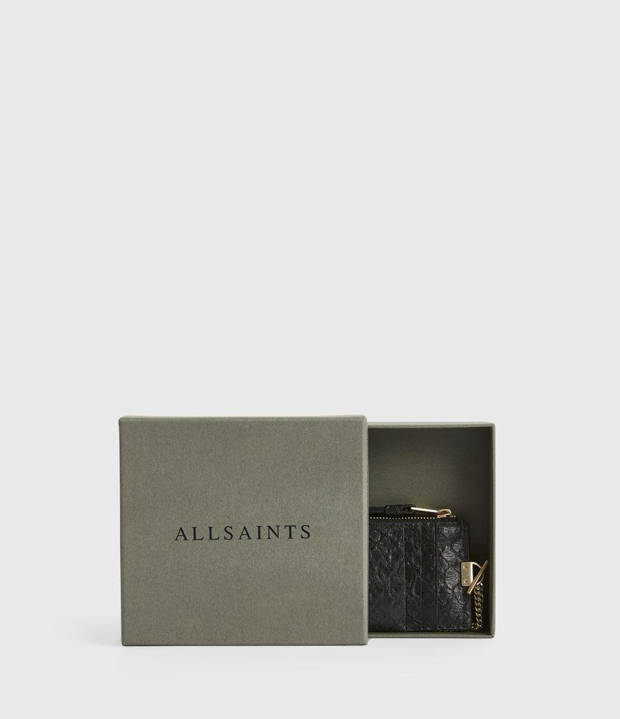 Women's Lotte Chain Leather Cardholder (black_python) - Image 7