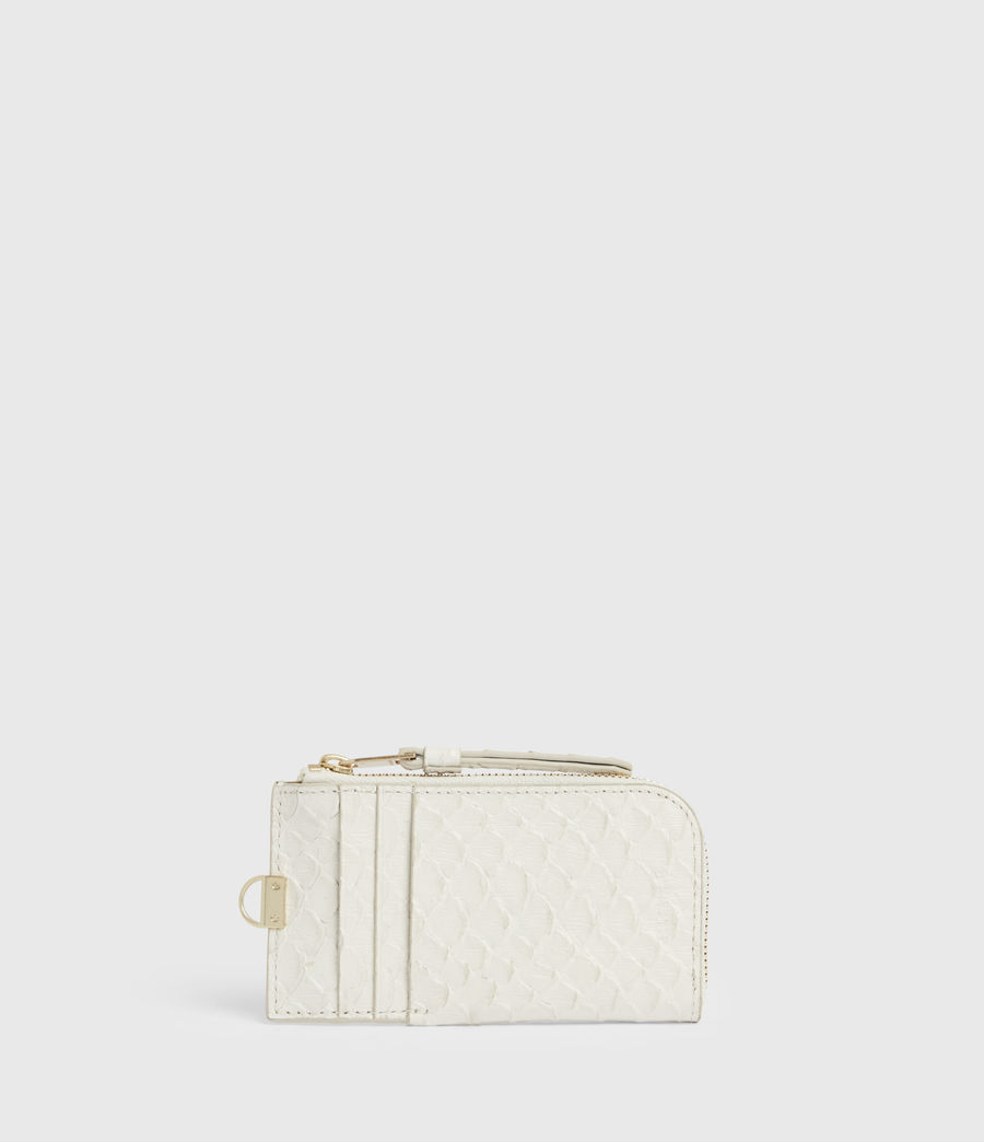 Women's Lotte Chain Leather Cardholder (roe_white) - Image 6
