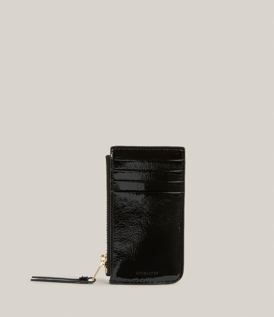 Women's Marlborough Leather Wallet (liquid_black) - Image 1