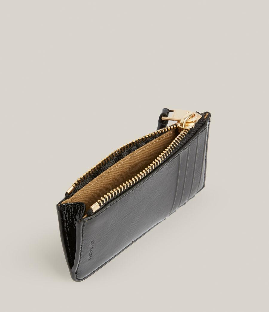 Women's Marlborough Leather Wallet (liquid_black) - Image 2