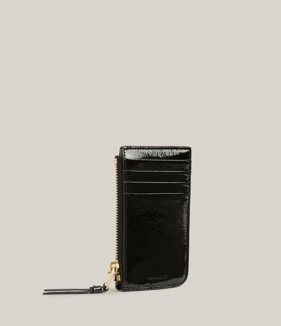 Women's Marlborough Leather Wallet (liquid_black) - Image 3