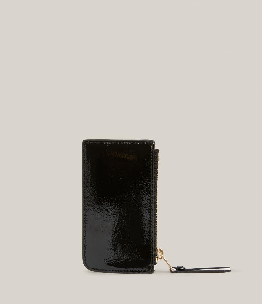Women's Marlborough Leather Wallet (liquid_black) - Image 5