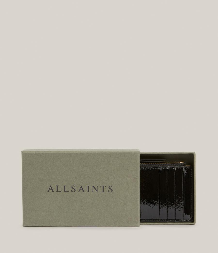 Women's Marlborough Leather Wallet (liquid_black) - Image 6