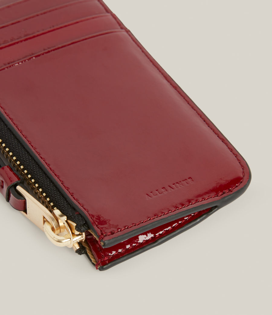 Women's Marlborough Leather Wallet (liquid_rouge) - Image 4