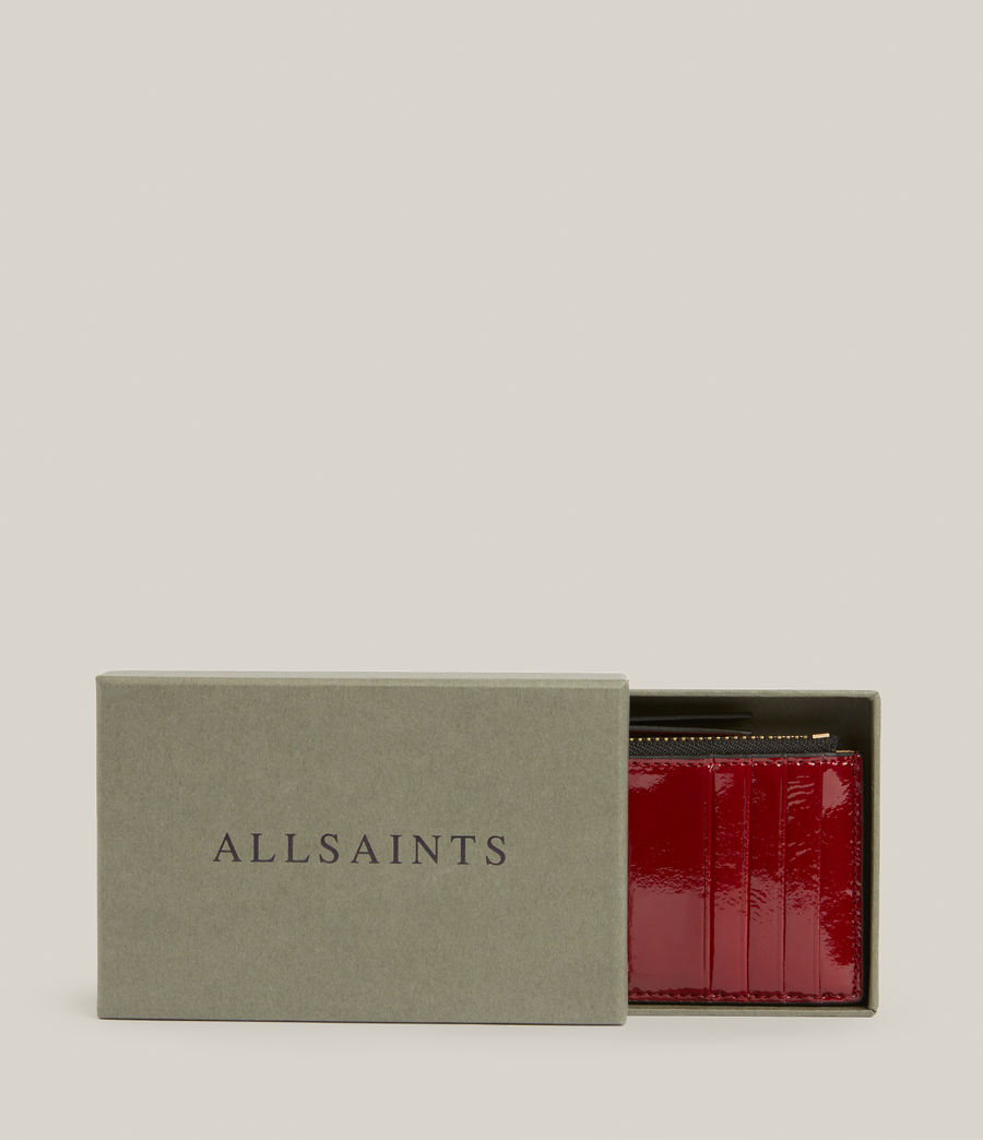 Women's Marlborough Leather Wallet (liquid_rouge) - Image 6