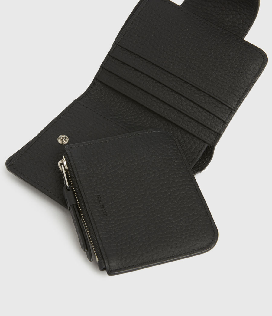 Womens Ray Leather Wallet (black) - Image 2