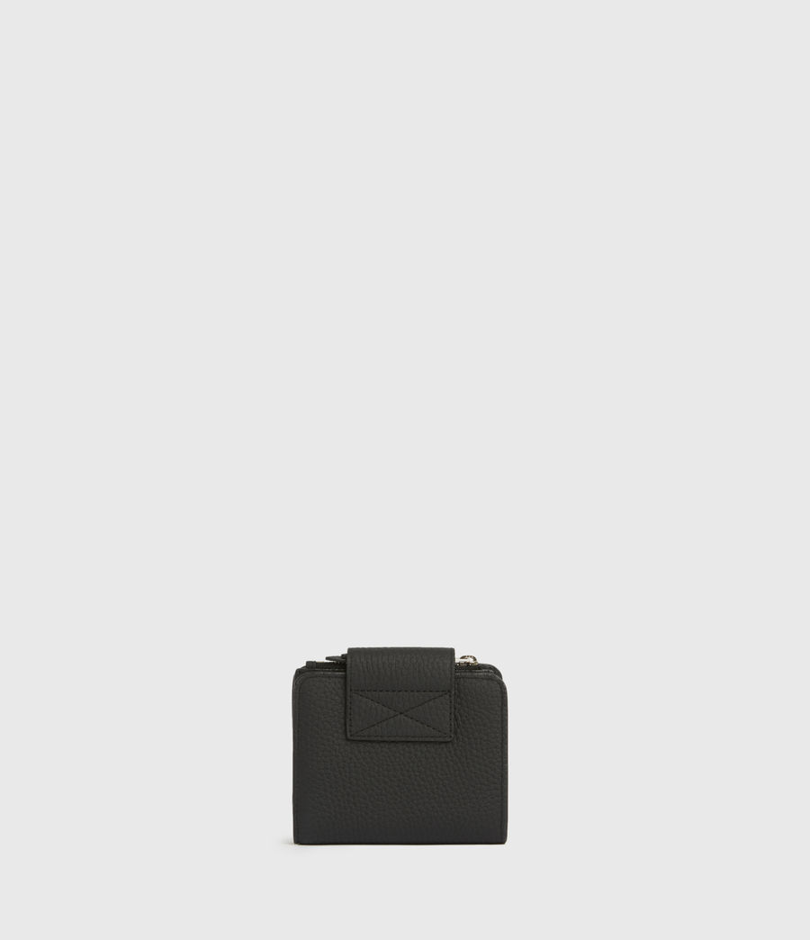 Womens Ray Leather Wallet (black) - Image 5