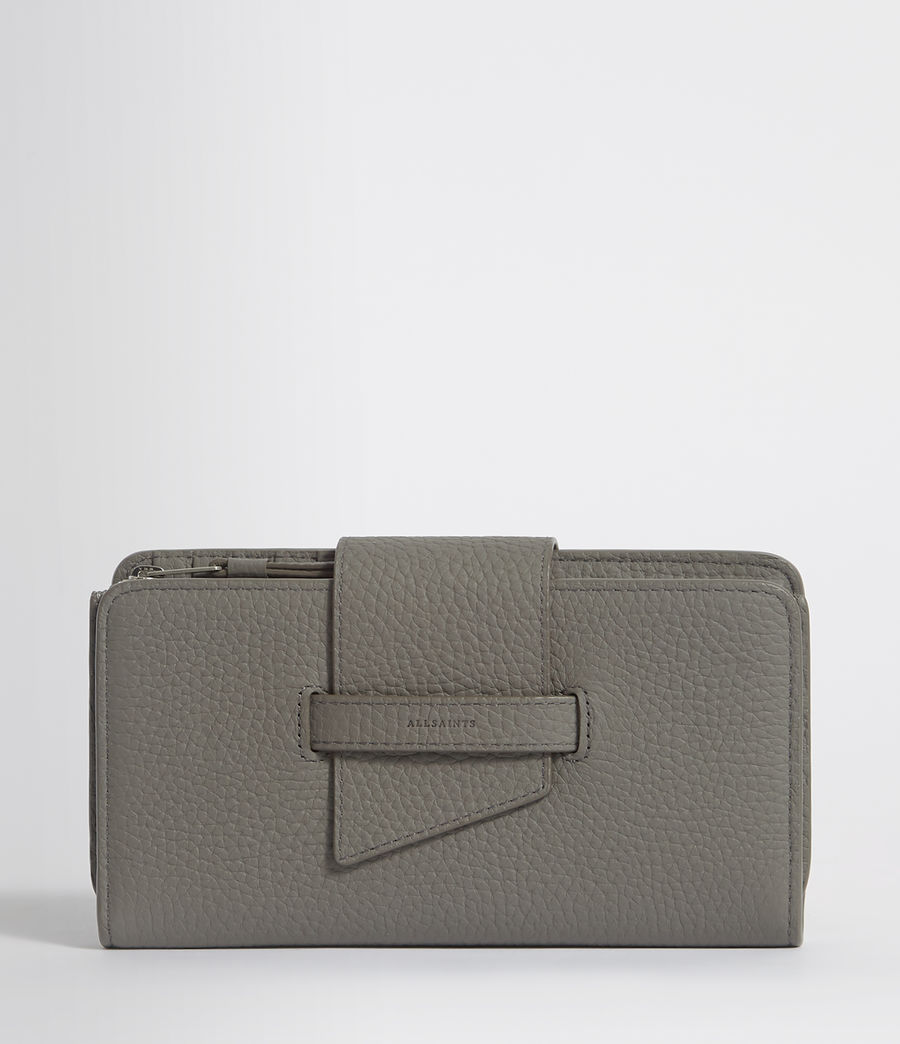 Womens Ray Leather Wallet (storm_grey) - Image 1