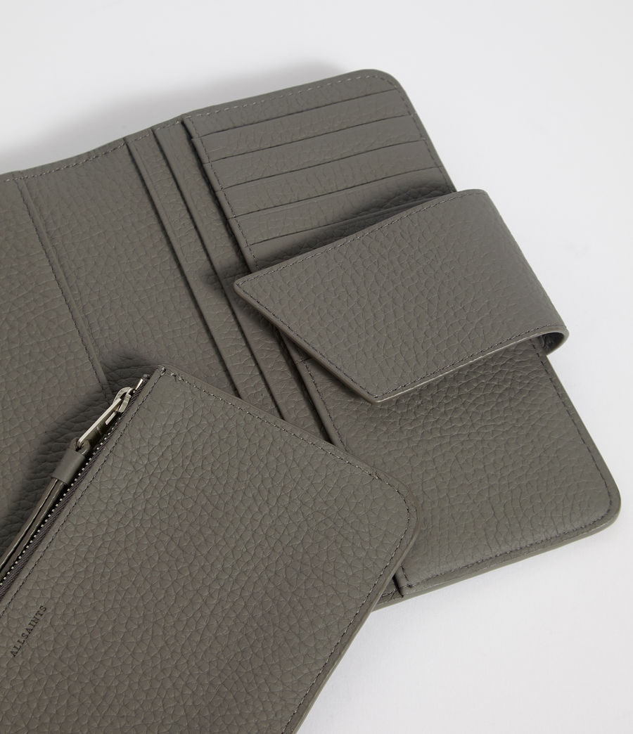 Womens Ray Leather Wallet (storm_grey) - Image 2