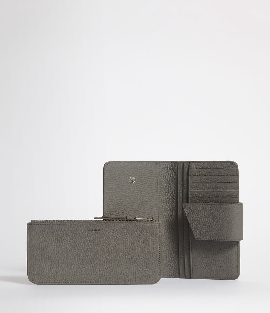 Womens Ray Leather Wallet (storm_grey) - Image 3