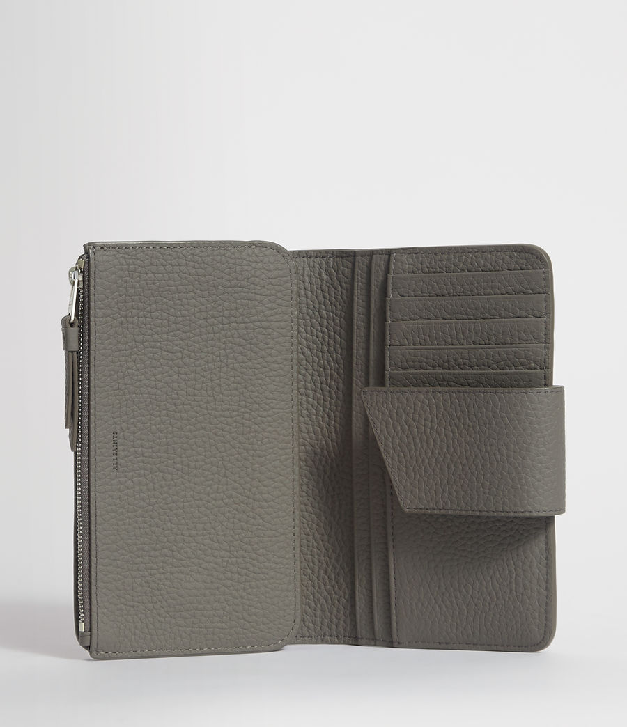 Women's Ray Leather Wallet (storm_grey) - Image 4