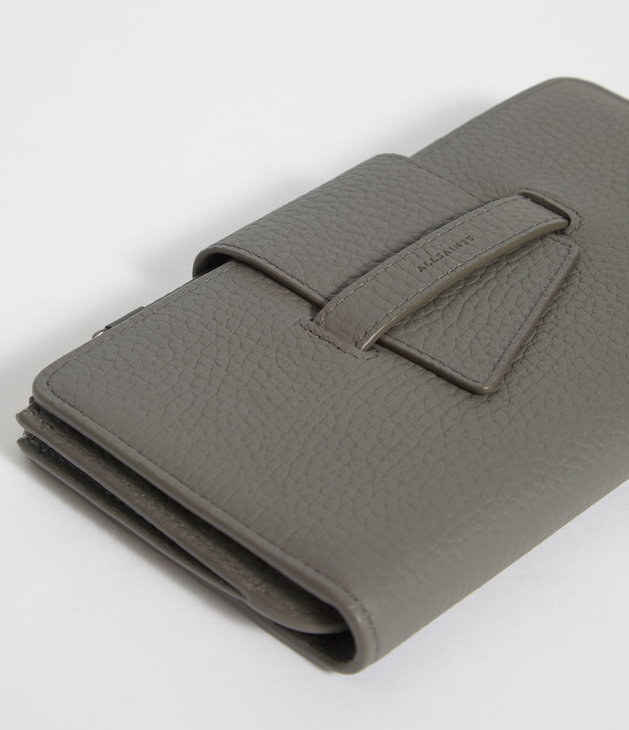 Women's Ray Leather Wallet (storm_grey) - Image 5
