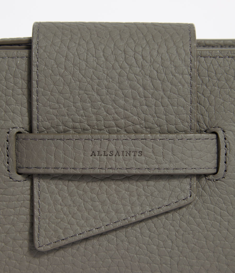 Womens Ray Leather Wallet (storm_grey) - Image 6