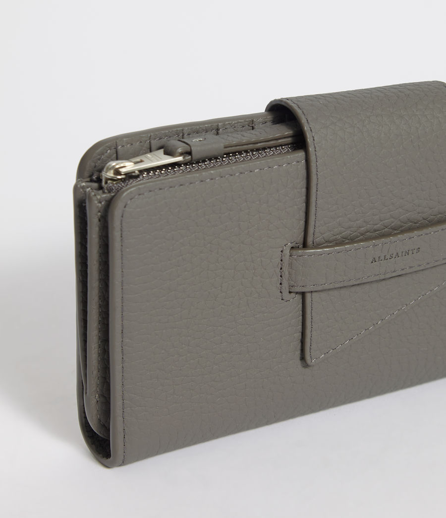 Womens Ray Leather Wallet (storm_grey) - Image 7