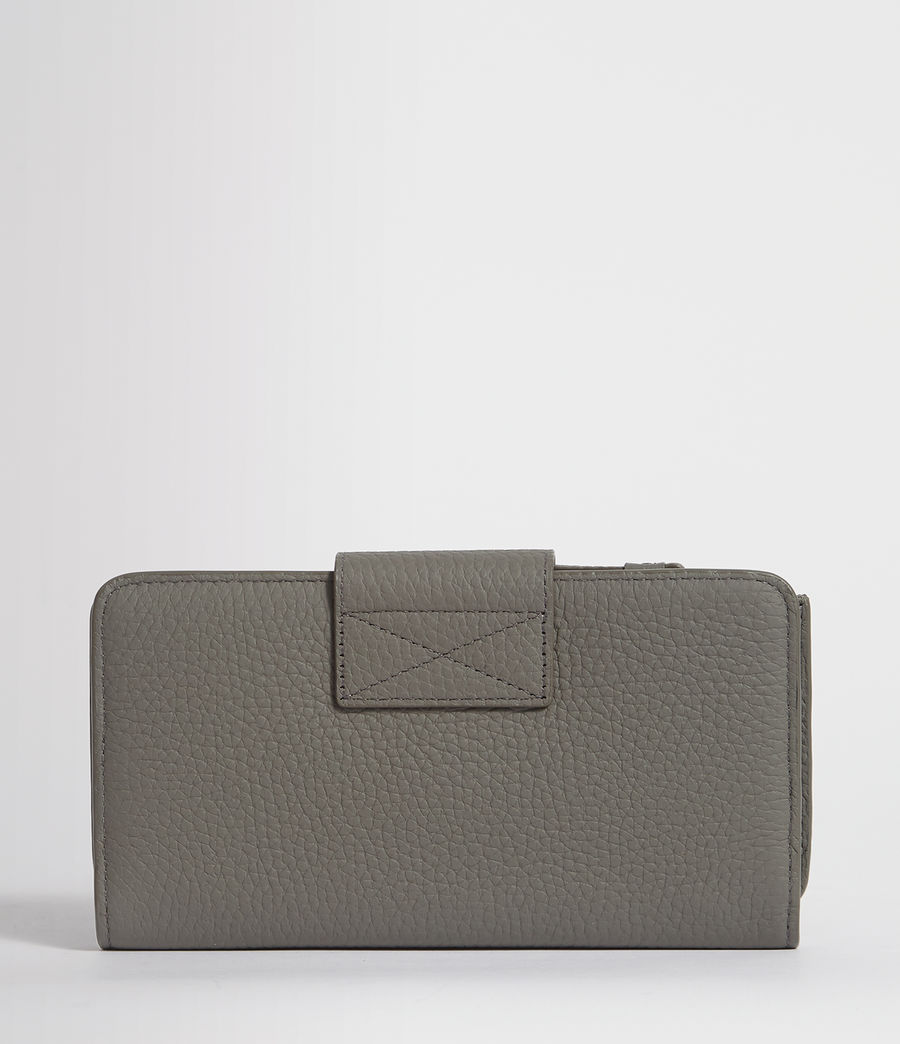Womens Ray Leather Wallet (storm_grey) - Image 8