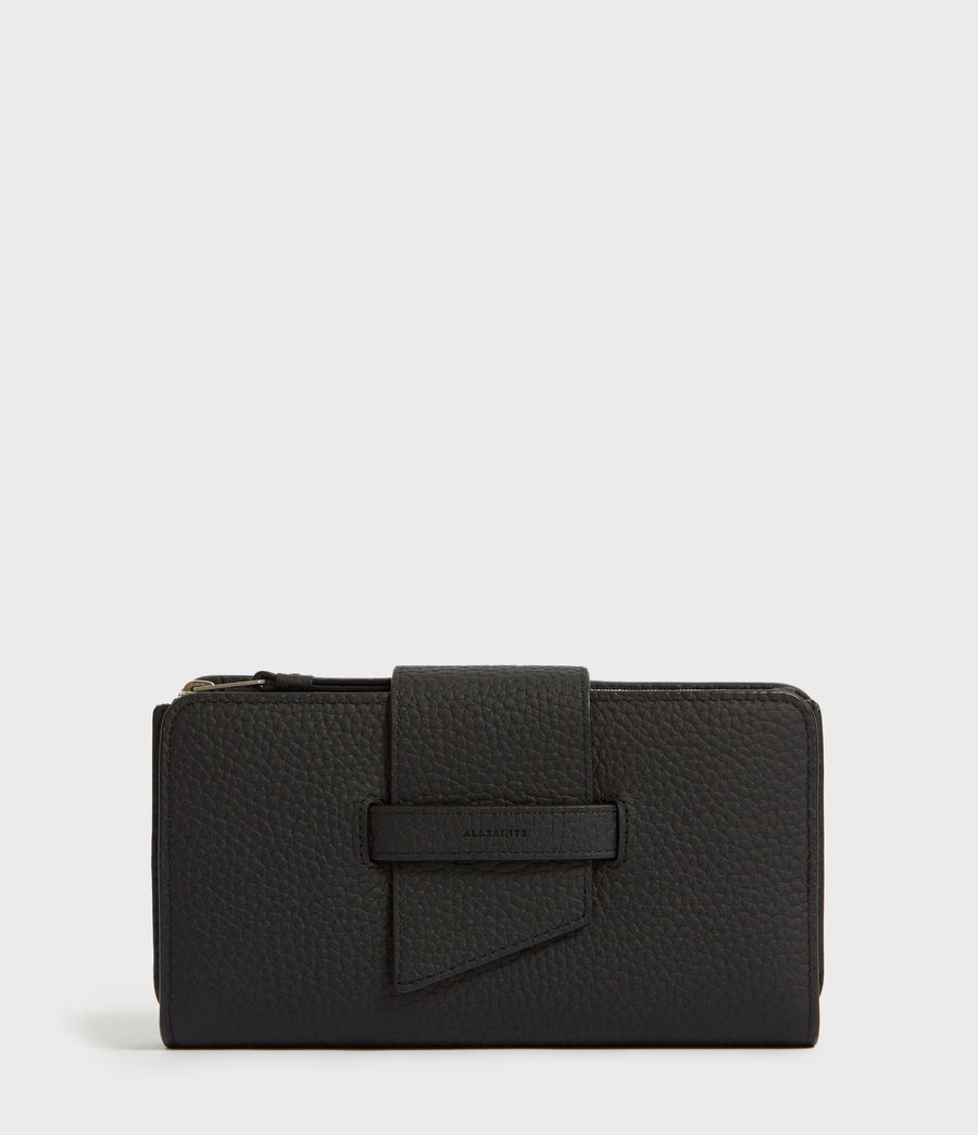 Womens Ray Leather Wallet (black) - Image 1