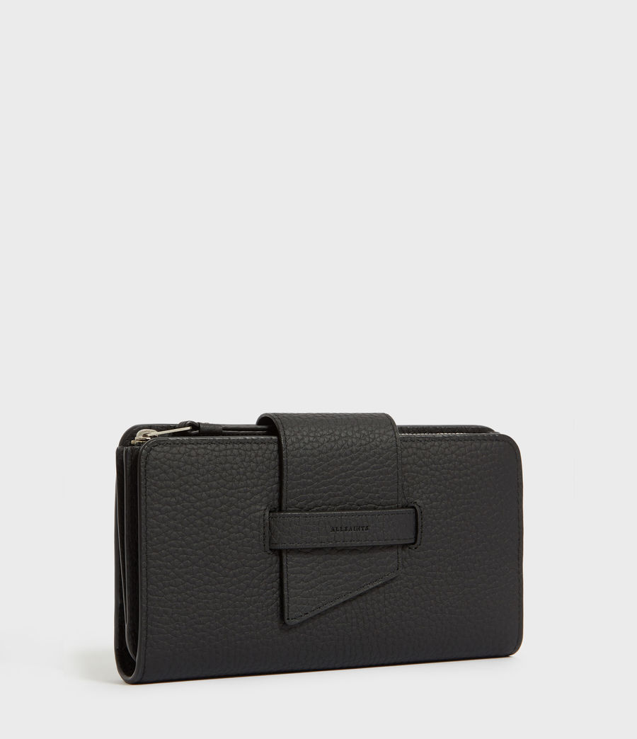 Womens Ray Leather Wallet (black) - Image 3