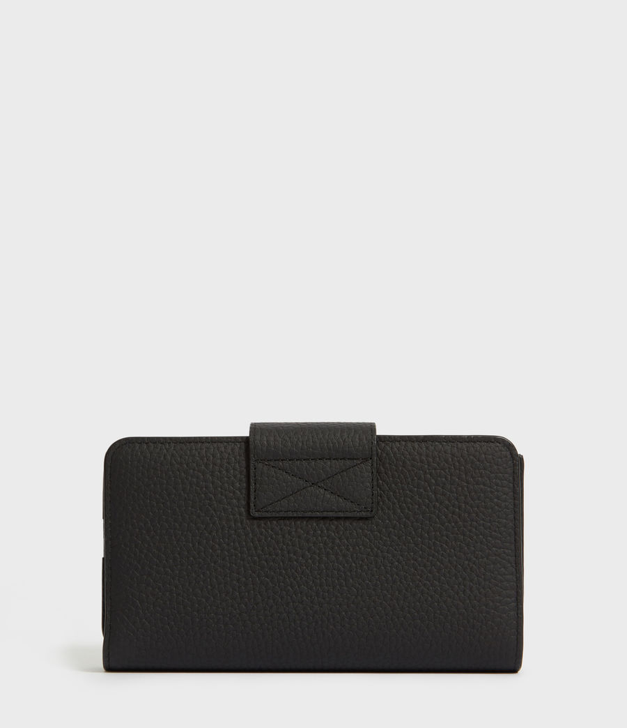 Womens Ray Leather Wallet (black) - Image 4
