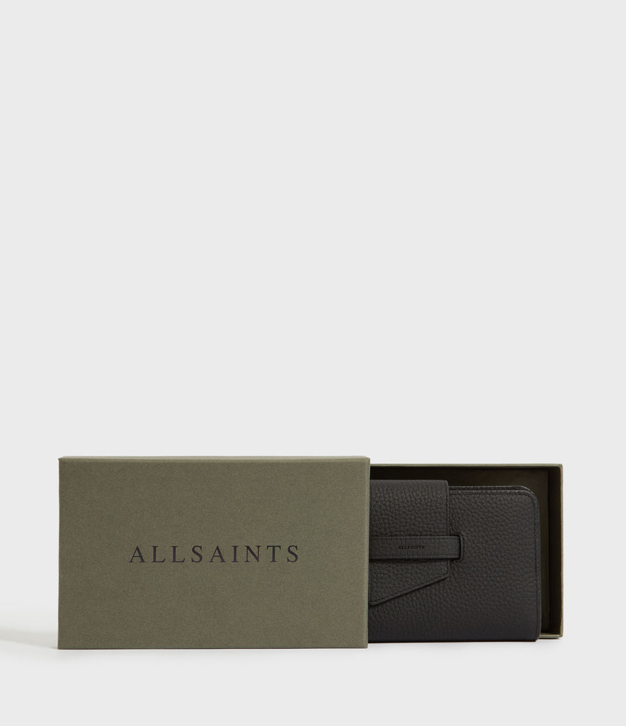 Womens Ray Leather Wallet (black) - Image 6