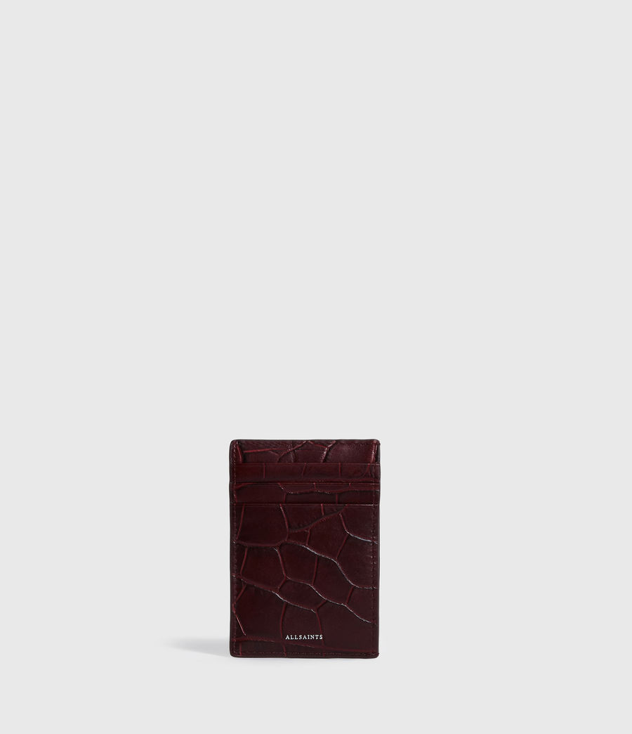 Women's Polly Leather Card Case (bordeaux_red) - Image 1