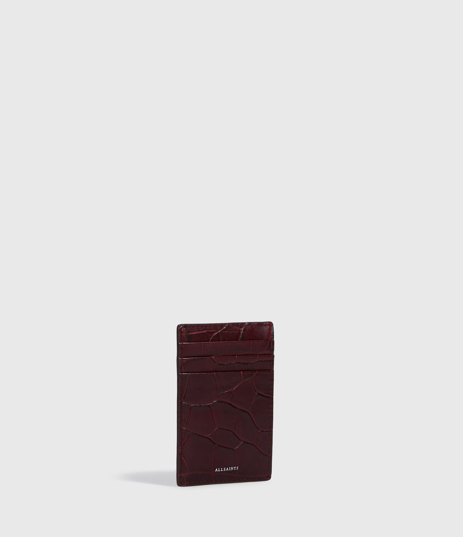 Women's Polly Leather Card Case (bordeaux_red) - Image 3