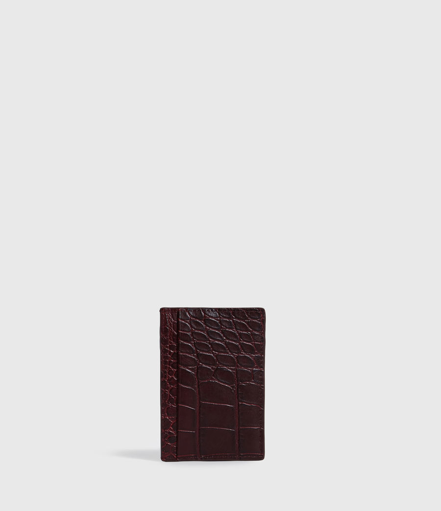 Women's Polly Leather Card Case (bordeaux_red) - Image 5
