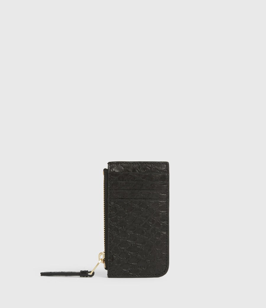 Women's Marlborough Leather Wallet (black_python) - Image 1