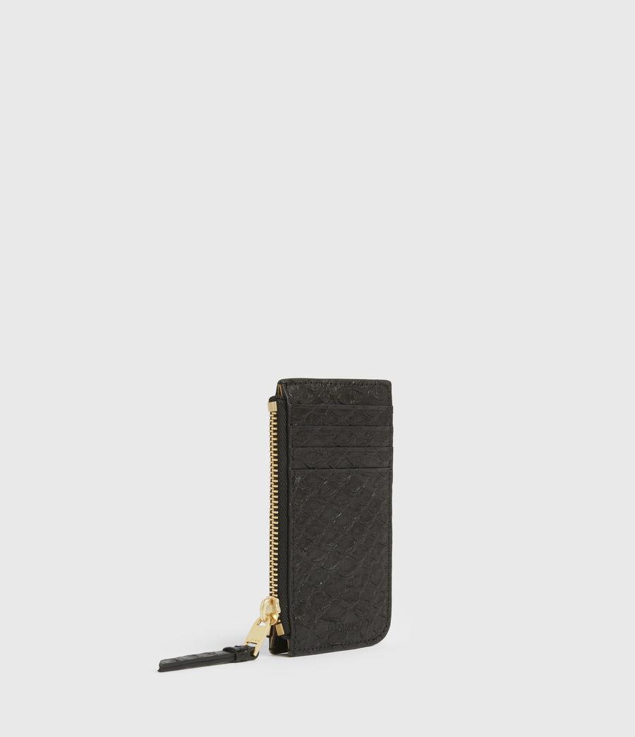 Women's Marlborough Leather Wallet (black_python) - Image 3