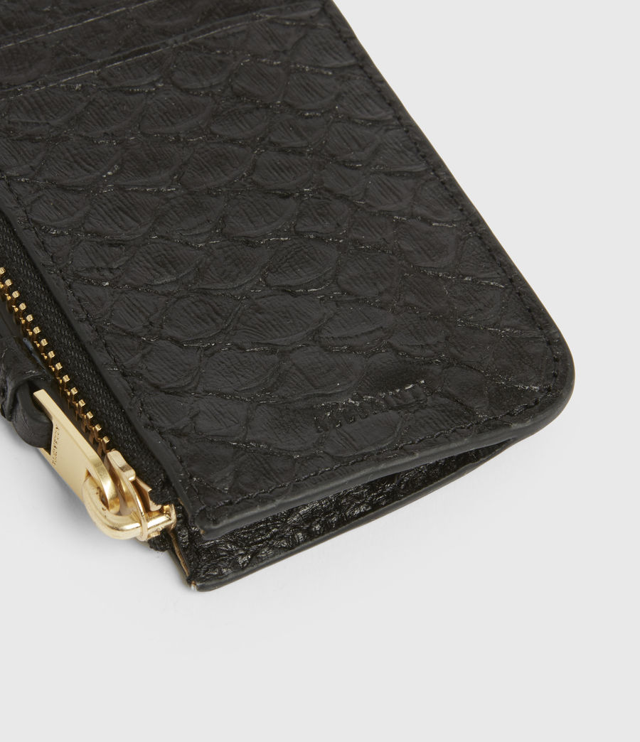 Women's Marlborough Leather Wallet (black_python) - Image 4